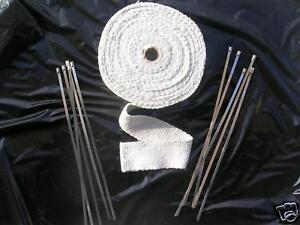 Bande Isolant Thermique Collecteur Echapement CERAMIQUE 10M X 5 Cm Ep. 2mm