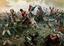 Battle of Waterloo  by William Holmes Sullivan    Paper Print Repro