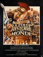 Affiche 120x160cm LA FOLLE HISTOIRE DU MONDE (HISTORY OF…) 1982 Mel Brooks TBE