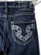 BIG STAR The Buckle Jeans 24 Remy Low Flare Designer Denim Dark Wash (27x29)