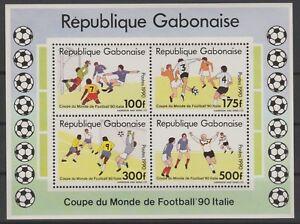 Gabon 1990 Mi. Bl. A65 Football Soccer FIFA World Cup Italy MNH RARE
