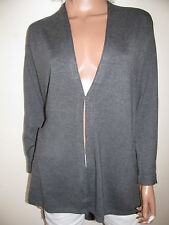 COMMA  69€ Grau Long Cardigan Viskose Strickjacke Knit Jacket Blazer Gr.36 Neu