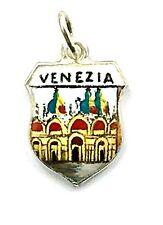 Bettelarmband Anhänger Wappen ♥ VENEZIA Markusplatz Italia ♥ Souvenir 935