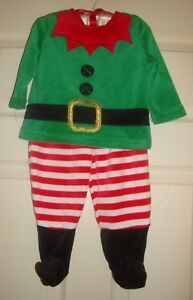 LITTLE/WONDERS~boy's~CHRISTMAS/ELF/PAJAMA/SET/POINTED/TOES! (3/6/MO) BRAND/NEW!