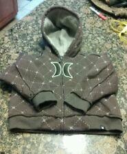HURLEY Brown Sherpa Fleece-Lined Toddler Hooded Sweatshirt Jacket 18m EUC