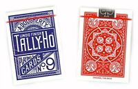 TALLY HO #9 Playing Cards 2 Decks Fan Back Original Design 1 Red & 1 Blue Deck