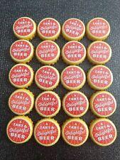 Shiner Beer bottle caps lot of 20 beerpong craft NO DENTS ruby redbird vintage