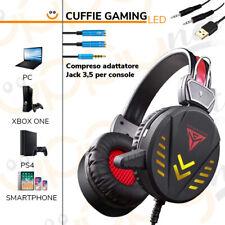 Cuffie gaming gioco auricolare con microfono volume LED per XBOX ONE PS4 PC MAC
