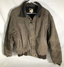CARHARTT JQ2382 BROWN WORK JACKET QUILT INSULATED Distressed Size Men's Large