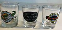 Lot of 3 Railroad Shot Glasses New York Central, Rio Grande, & Avigators Supply