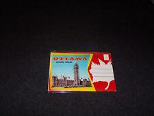 1960's Souvenir Postcard Folder Ottawa Ontario Canada