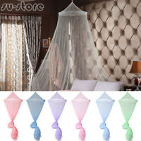 Elegant Lace Canopy Bed Curtain Dome Midges Insect Cot Stopping Mosquito Net SU