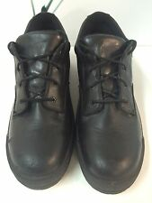 REDWINGS MENS SAFETY SHOES BLACK 12 B LEATHER STEEL TOES