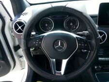 2018 Black Easy Slip-On PU Steering Wheel Cover Perfect Fit Water Stain Resist