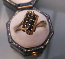 Vintage 9ct Gold Women's Ring Sapphire Ring Size O Quality Ring Weight 2.5g