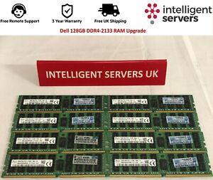 Dell 128GB RAM Upgrade PC4-17000 2Rx4 DDR4-2133 - R430 R530 R630 R730 R830 R930