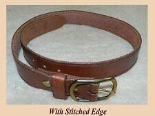 "GUN or WORK Belt  9-10 oz Leather Size 34, 1-1/2"" wide *Read description sizing*"