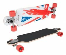 """HUDORA Hornet Longboard 32,5"""", Flag Design 3 Kids Teens Skate Kinder Long Board"""