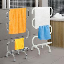 Electric Towel Warmer Freestanding Heated Clothes Drying Radiator Rail Rack