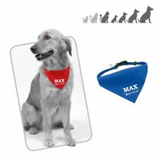 Bandana placa chapa medalla de identificacion para collar perro gato mascota