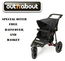 Out n About Nipper 360 V4 (Raven Black) All Terrain Single Pushchair/FREE Basket