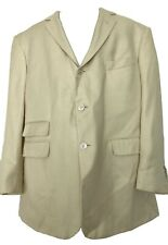 NEW, BROOKS BROTHERS BLACK FLEECE MEN'S CREAM SILK JACKET, XL