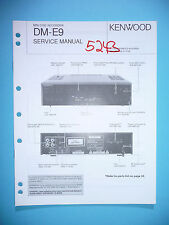 Service Manual Instructions for Kenwood DM-E9, Original