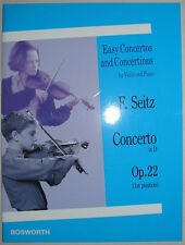 Concerto in D de F. Seitz, op.22, pour violon et piano, partition