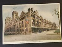 1946 Montreal Canada Windsor Station Postage Due Railroad Station Postcard Cover