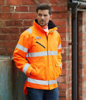 Yoko Hi Vis Fontaine Storm Jacket High Visibility Coat Work Wear Safety YK214