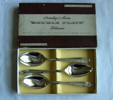 Vintage Silver Double Plated EPNS A1 Dessert Spoons x 6 Priestly Moore CONISTON