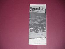 Vintage 1952 Shenandoah National Park Virginia Brochure Pamphlet Map