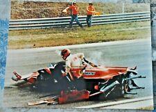 FOTO PHOTO CRASH GILLES VILLENEUVE IMOLA FERRARI 312 T5 G.P. D'ITALIA 1980