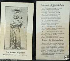 OLD BLESSED SAINT ANTHONY OF PADUA HOLY CARD ANDACHTSBILD SANTINI ESTAMPA  CC931