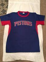 Park Anthony Detroit Pistons NBA Shirt Jersey Blue Red White Large