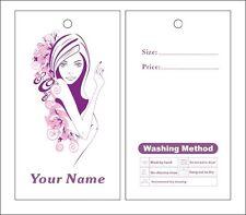 custom print  1000pcs hang tags price label lady dress  hang tags