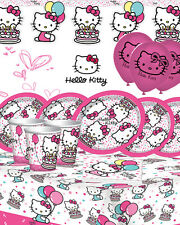 Hello Kitty Ultimate Kids Birthday Party Kit for16 Vajilla suministros Decoración