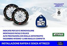 Catene da neve Kia Sportage 205/70-15 R15 per ruote auto grip mm 12 kit ruota