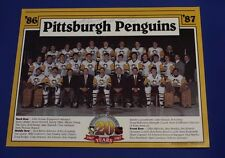 1986 87 Pittsburgh Penquins team Pic Hand Signed by Mario Lemieux in 1986  RARE