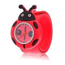 NEW LADYBIRD LADYBUG CHILD WRIST WATCH FUN DESIGN FITS ALL SIZES IN GIFT BOX