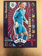 Match Attax Extra 16/17 Burnley #UC5 Tom Heaton-Extra Boost Card