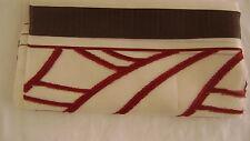 Stoff    Reststück Gardinenstoff  transparent bordeaux braun  111*59 cm