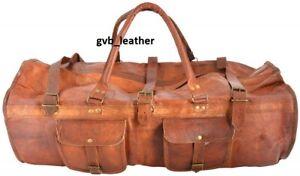 Genuine Upmarket Leather Duffle Weekend Travel Gym Overnight Bag Luggage Holdall
