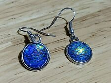Mermaid Fish Scale Inspired Dangle Earrings