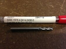 """.1575"""" 4mm 4 FLUTE SINGLE END CARBIDE END MILL 4mm X 14mm X 4mm X 51mm"""