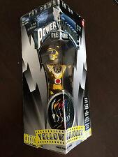 "Power Rangers Ranger 8"" Amarillo de Cromo-Nueva Sellada-Raro Coleccionable"