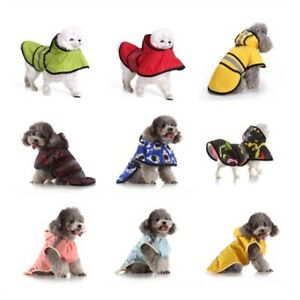 Outdoor Waterproof Dog Hooded Raincoat Pet Rainwear Puppy Jacket Clothes Costume