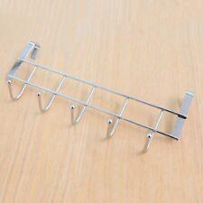 Over the Door 5 Hook Rack Decorative Hanger for Hanging Clothes Coat Hat