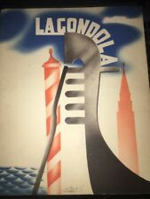 La Gondola:Tourist Promotion by Italian State Tourist Department 1936 paperback