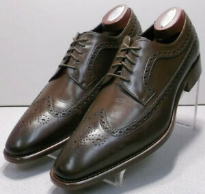 242942 PFi60 Men's Shoes Size 9 M Brown Leather Made in Italy Johnston & Murphy